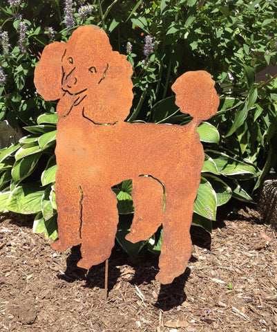 Poodle Garden Stake or Wall Hanging (Style 2)