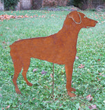 Rust Dog Breed Garden Stakes