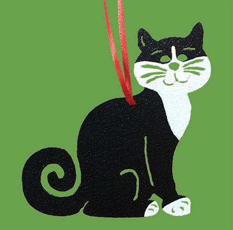 Tuxedo Cat Ornament or Plant Stake