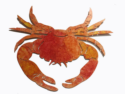Orange Red Wash Crab