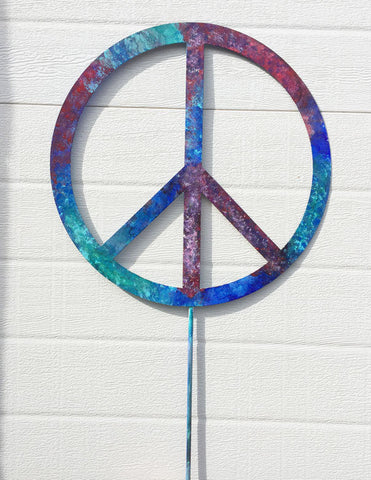 ... Peace Sign Garden Stake or Wall Hanging ...  sc 1 st  Rustica Ornamentals & Peace Sign Garden Stake or Wall Art u2013 Rustica Ornamentals