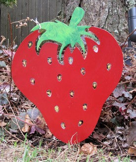 Strawberry Garden Stake or Wall Hanging