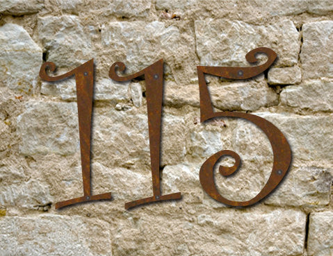 4 Curlz Rustic House Numbers or Letters