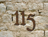 2 Rustic Pennybridge house numbers or letters