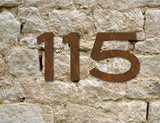 Rustic Blair Font House Numbers
