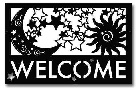 Moon, Stars & Sun Welcome Sign / Wall Art / Home Decor / Wall Hanging / Metal Wall Art / Metal Welcome Sign / Powder Coated