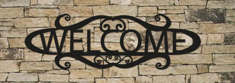 20 INCH WELCOME SIGN / WALL ART / HOUSE SIGN / HOUSE DECOR / METAL / METAL WALL ART / POWDER COATED