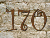 Curlz Font Rustic House Numbers or Letters (Set of 3)