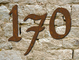 3 rustic house numbers / letters