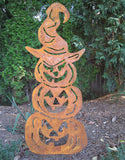 Three Stacked Pumpkins Garden Stake or Wall Hanging | Giant | Large | Metal