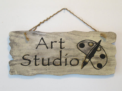 Art Studio Wood Sign / Custom Sign / Personalized sign / Engraved Wood Sign