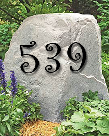 Set of 5 Curlz Font Powder Coated House Numbers or Letters