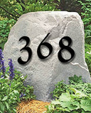 Set of 2 Powder Coated Penny Brook Font House Numbers or Letters