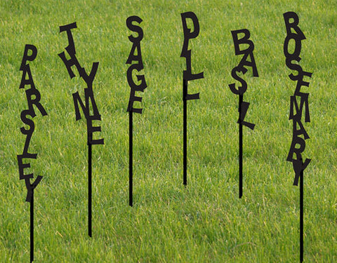 Garden Marker Set of 2 Vegetable Garden Stake Herb Marker