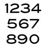 Blair Font House Numbers or Letters - 2 to 8 Inch (Set of 6)