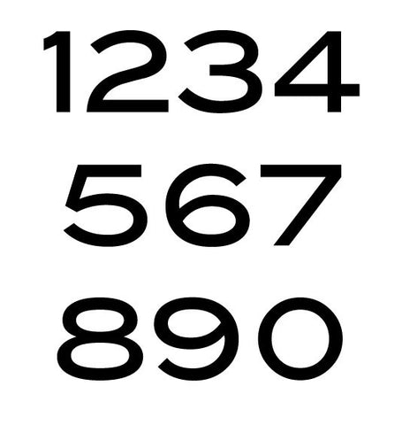 blair font house numbers or letters set of 3 2 inch up to