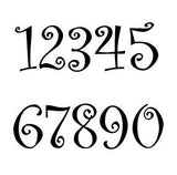 Curlz Font House Numbers or Letters (Set of 9) / 2 Inch up to 8 Inch / Address / Sign / Metal / Custom / Business / Restaurant / Office / Powder Coated