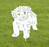 Tea Cup Poodle Garden Stake or Wall Hanging