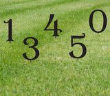 Lawn Numbers or Letters (Set of 2) / 20 Inch High Giant Numbers / Address / Metal / Large / Garden / Yard / Business / Restaurant / Office