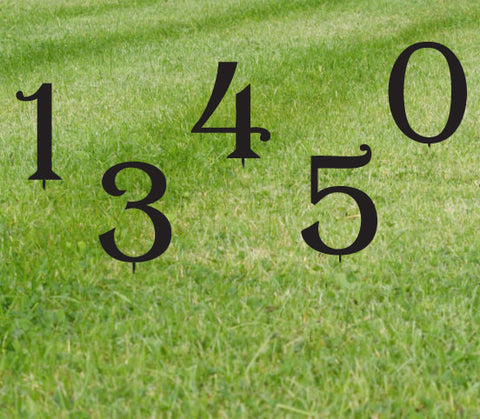 Set of 3 Powder Coated Lawn Numbers or Letters