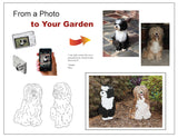 Custom Dog Breed Garden Art