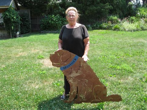 St. Bernard Garden Stake, Wall Hanging or Pet Memorial – Rustica ...