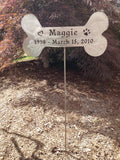 Pet Memorial / Dog Memorial / Pet Marker / Grave Marker / Garden Stake / Custom / Metal / Dog / Rusty / Bone