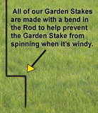 courtesy bend in plant stake