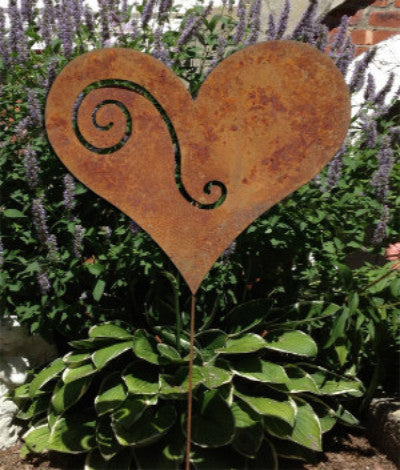 Elegant Heart Garden Stake Or Wall Hanging From $ 46.99