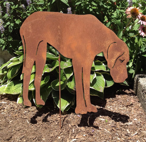 Rustic Great Dane Garden Stake