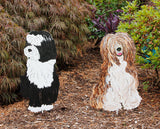 Tibetan Terrier Garden Stake or Wall Hanging
