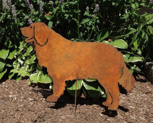 Rust Bernese Mountain Dog Garden Stake