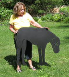Black Great Dane Garden Stake