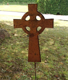 Celtic Cross Garden Stake