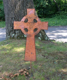 Rustic Celtic Cross Garden Stake