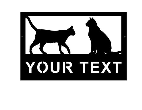 Cat Customizable Sign / Customizable text along with custom Dog / Cat Breed Options / Metal / Welcome / Powder Coated