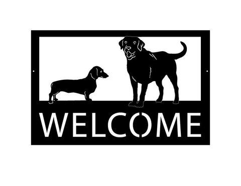 Dog Customizable Sign / Customizable text along with custom Dog / Cat Breed Options / Metal / Welcome / Powder Coated