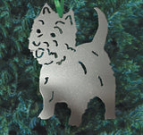 West Highland Terrier Ornament or Plant Stake