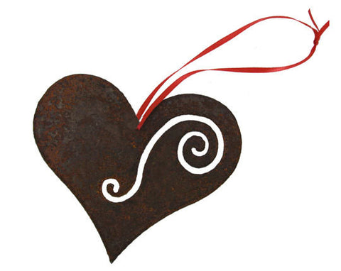 Rusty Heart Ornament