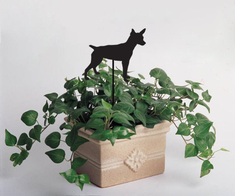 Rat Terrier Plant Stake