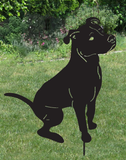 Pit Bull Garden Stake or Wall Hanging (style 2)