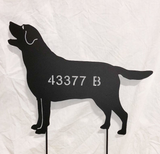 Labrador Retriever Garden Stake, Wall Hanging or Pet Memorial (Style 2)