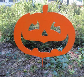 Jack O Lantern Pumpkin Garden Stake or Wall Hanging (option) Halloween