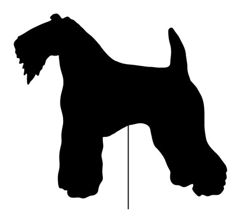 Kerry Blue Terrier Garden Stake or Wall Hanging