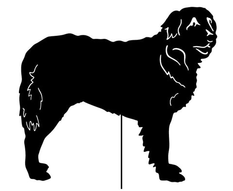 Leonberger Garden Stake or Wall Hanging