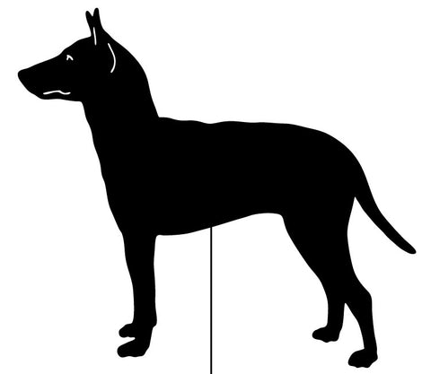 Manchester Terrier Garden Stake or Wall Hanging