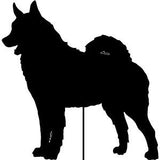 Norwegian Elkhound Garden Stake