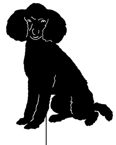 Poodle Garden Stake or Wall Hanging (Style 3)