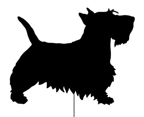 Scottish Terrier Garden Stake or Wall Hanging (Style 2)