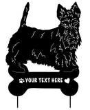 Scottish Terrier Garden Stake or Wall Hanging (Style 1)